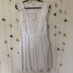 NWT Free People Half Moon Ruffled Mini Dress (L)